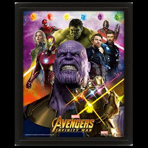 Poster 3D Marvel: Vengadores Infinity War Guantelete