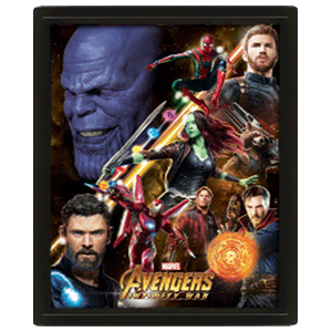 Cuadro 3D Marvel: Vengadores Infinity War Avengers United
