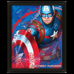Cuadro 3D Marvel: Capitán América