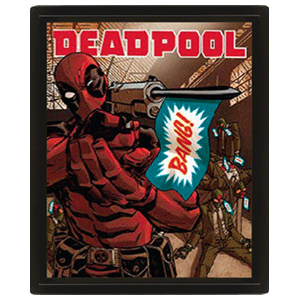 Cuadro 3D Marvel: Deadpool Bang