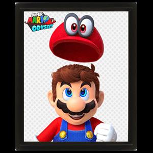 Cuadro 3D Super Mario Odyssey Mario