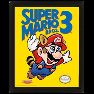 Cuadro 3D Super Mario Bros 3