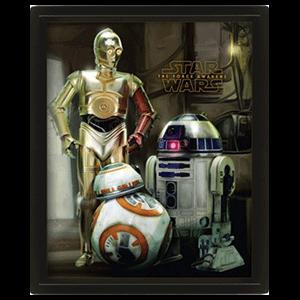 Cuadro 3D Star Wars: Droides