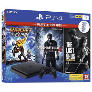 Playstation 4 Slim 1Tb + R&C + The Last of Us + Uncharted 4