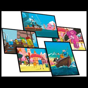 Set 5 postales A5 Hora de Aventuras