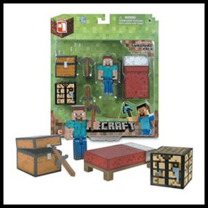 Blister Figura Minecraft Deluxe Surtido