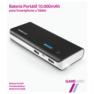 Batería Portátil 10000mAh GAMEware