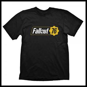 Camiseta Fallout 76 Logo Negra Talla XL