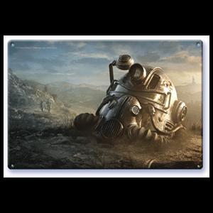 Litografía Fallout: T-51b Power Helmet