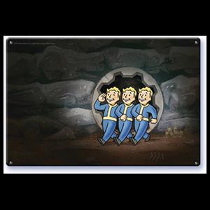Litografía Fallout: Vault Boys