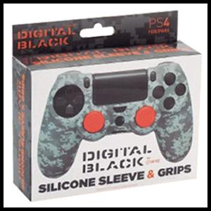 Funda Silicona + 2 Grips para Controller FR-Tec Digital Black