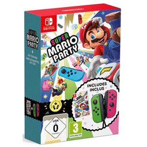 Super Mario Party + JoyCon Verde y JoyCon Rosa