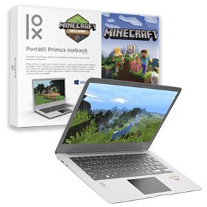 "Primux ioxBook 1402MC Minecraft Edition - Celeron N3350 - 4GB - 32GB SSD - 14.1"" HD - W10"