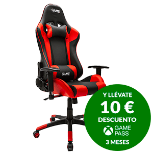 GAME Racing PRO GT300 Rojo-Negro Silla Gaming