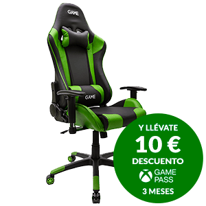 GAME Racing PRO GT300 Verde-Negro Silla Gaming