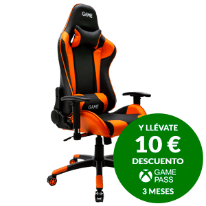 GAMEware Racing PRO Naranja-Negro Silla Gaming