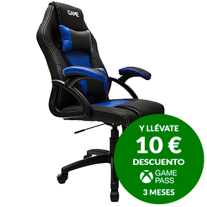 GAMEware Racing Azul-Negro Silla Gaming