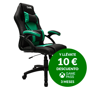 GAMEware Racing Verde-Negro - Silla Gaming