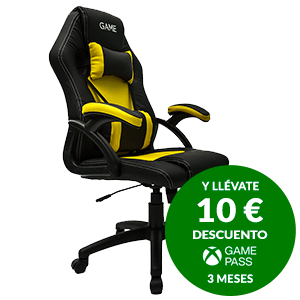 GAME Racing GT100 Amarilla-Negro - Silla Gaming