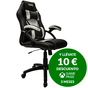 GAMEware Racing Blanca-Negro - Silla Gaming