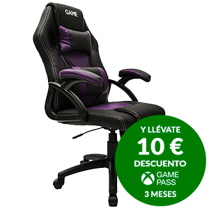 GAMEware Racing Morado-Negro - Silla Gaming