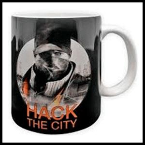 Taza Watch Dogs Hack The City (REACONDICIONADO)