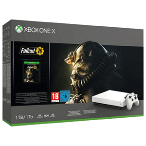 Xbox One X 1TB Robot White + Fallout 76