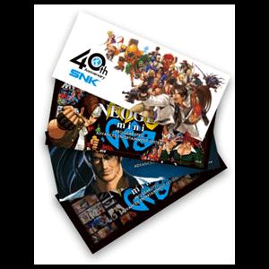 Sobre de 4 Pegatinas SNK Neo Geo Mini