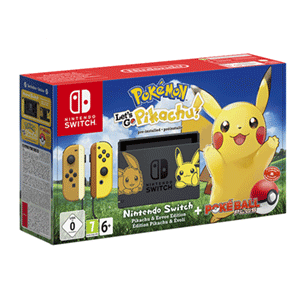 Nintendo Switch Edición Pokémon - Let's Go Pikachu + Poké Ball Plus