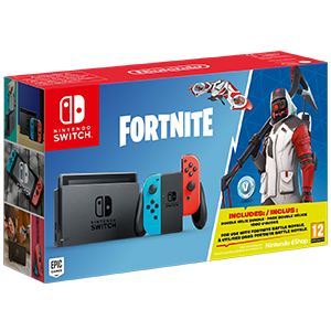 Nintendo Switch Azul Neon Rojo Neon + Fortnite (Código Descarga)