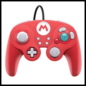 Controller con Cable PDP Mario Super Smash Bros -Licencia oficial-