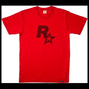 Camiseta Roja Rockstar Talla XXL