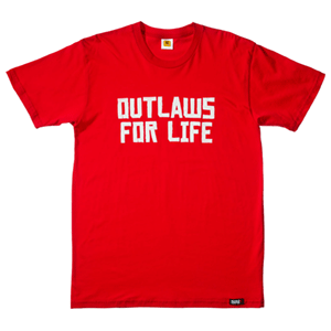 Camiseta Roja Red Dead Redemption Outlaws Talla M
