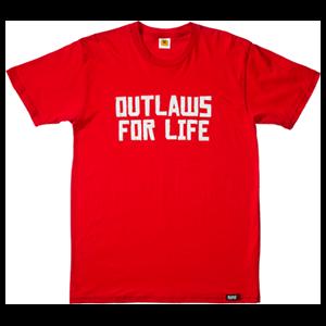 Camiseta Roja Red Dead Redemption Outlaws Talla XXL
