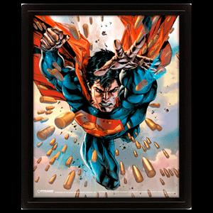 Cuadro 3D Bullets Superman