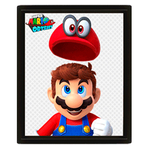 Cuadro 3D Cappy Super Mario Odyssey