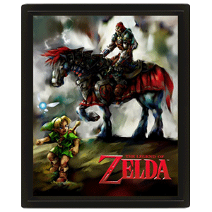 Cuadro 3D Young Link & Ganondorf The Legend Of Zelda