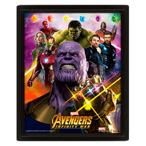 Cuadro 3D Gaunlet Avengers Iw