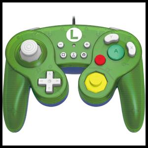 Controller con Cable Hori Luigi Ed. Super Smash Bros -Licencia oficial-