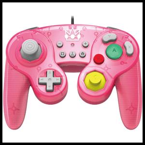 Controller con Cable Hori Peach Ed. Super Smash Bros -Licencia oficial-