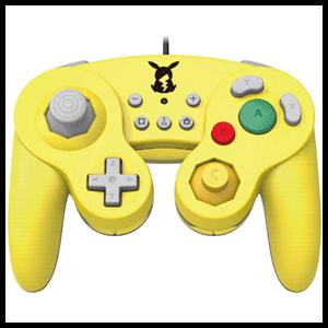 Controller con Cable Hori Pikachu Ed. Super Smash Bros -Licencia oficial-