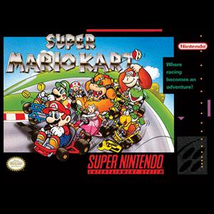 Lienzo Super Nintendo: Super Mario Kart