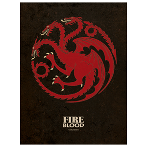 Lienzo Juego de Tronos: Targaryen