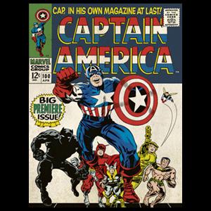 Lienzo Marvel: Capitán América Retro