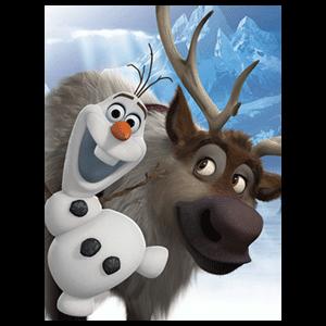 Lienzo Disney: Olaf & Sven