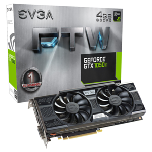 EVGA GeForce GTX 1050 Ti FTW GAMING 4GB GDDR5