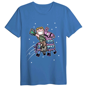 Camiseta Llama con Sorbete Fortnite L