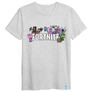 Camiseta Skins Gris Fortnite S