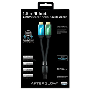 Cable dual HDMI 1,8m PDP Afterglow + Adapt. HDMI Mini
