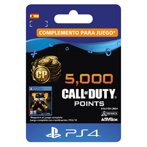 5.000 Call of Duty Black Ops 4 Points PS4